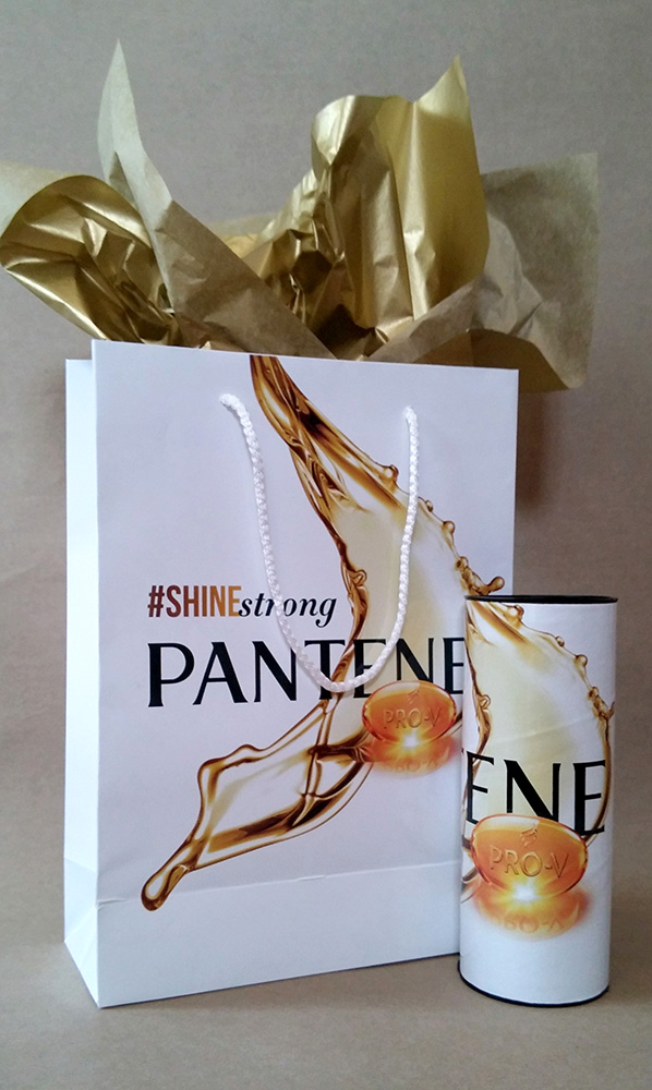 Customised packaging for Pantene
