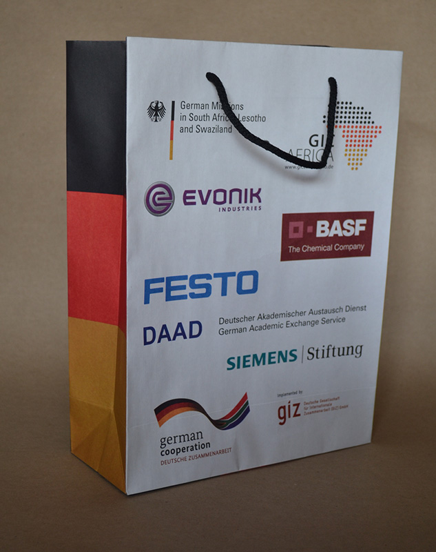 Printed paper gift bag for the Germany Embassy