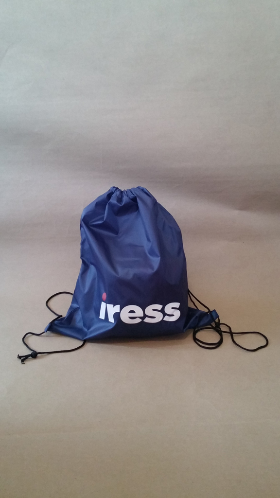 Drawstring Bag With Screen Printed Iress logo