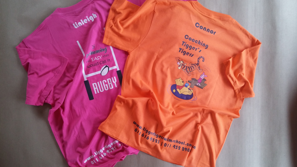 Personalised T-shirts For Tigger Tiger Swim School Staff