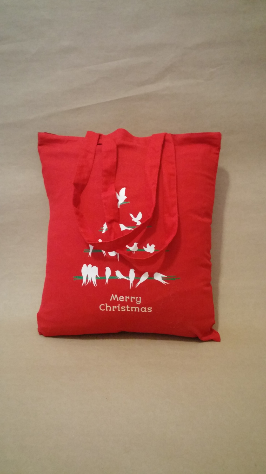 Shopper Bag With Christmas Heat Transfer Print